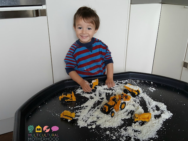 sensory play with cars