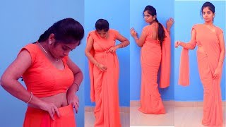 How To Wear South Indian Saree | States South Sari Wearing Tutorial | Gollabhama Sarees