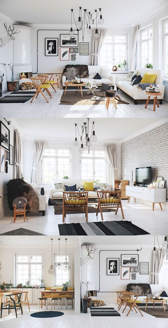 Variety of Scandinavian Living Room Designs Looks Perfect With Luxury Decor Ideas In It
