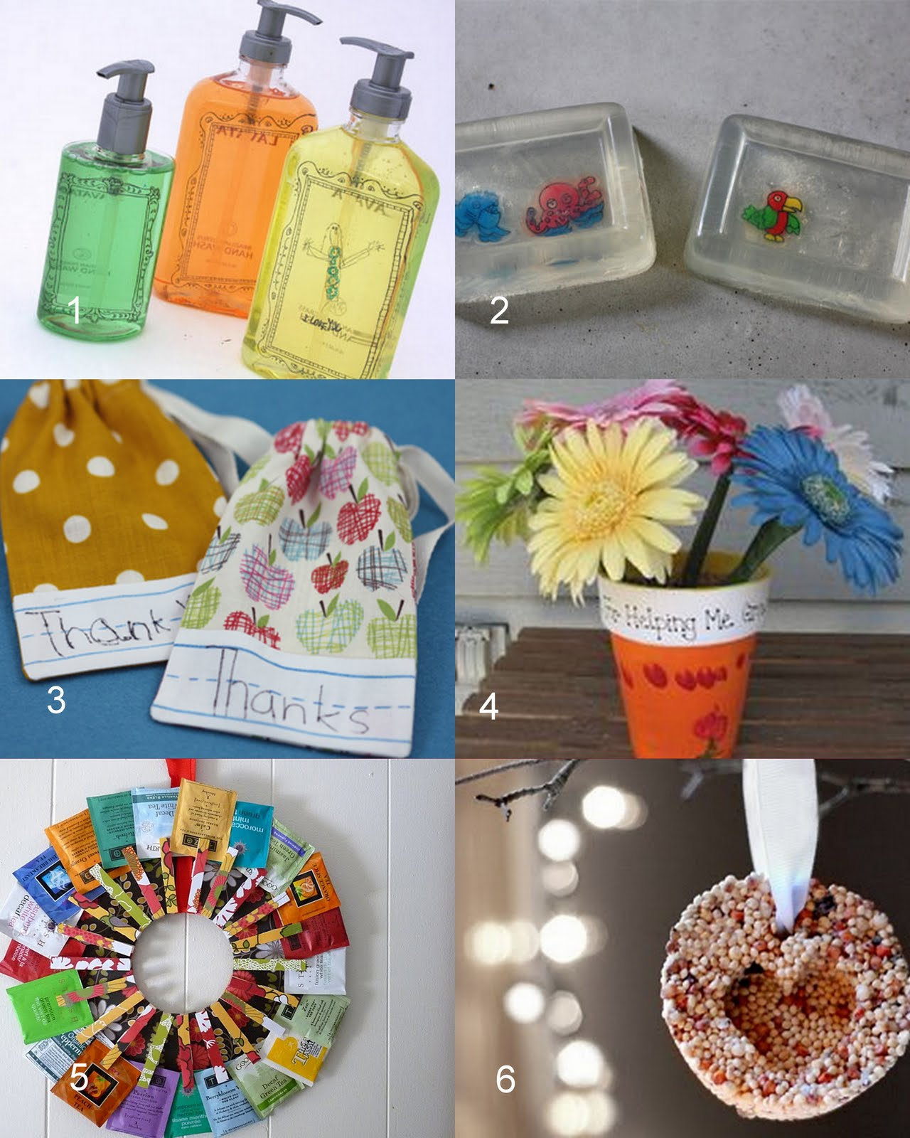 Teacher Gifts From Young Children