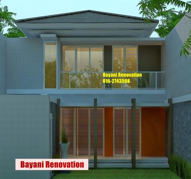 Plan Rumah Semi D 2 Lantai Moden Tropis