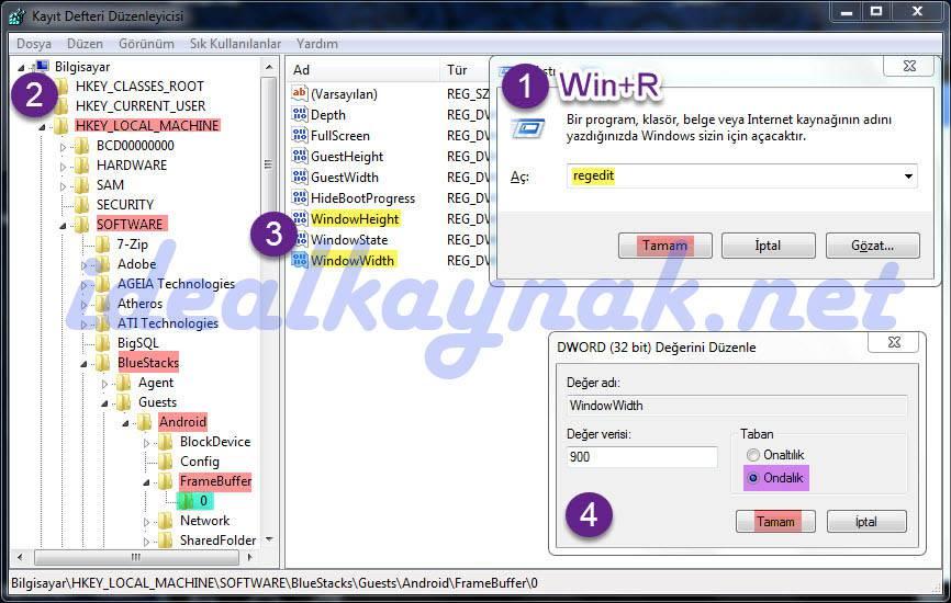 BlueStacks Ekran Boyutunu, Pencere Boyutu Ayarlama