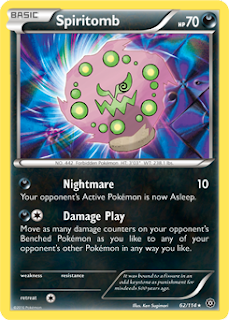Spiritomb Steam Siege Pokemon Card