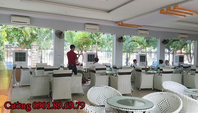 máy làm mát sử dụng tại quán cà phê