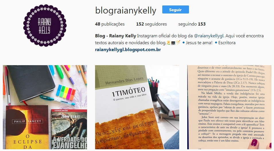 Instagram do blog
