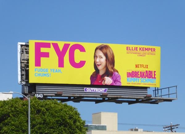 Ellie Kemper Unbreakable Kimmy Schmidt 2016 Emmy FYC billboard
