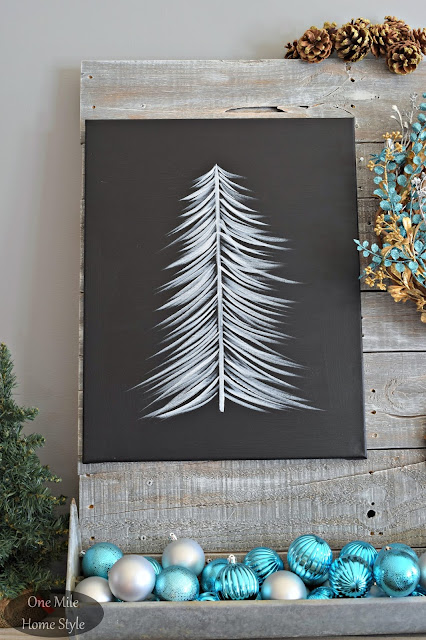 Step by Step instructions on how to make your own black and white holiday art