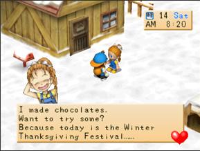 Di dalam Harvest Moon Back to Nature terdapat aneka macam pekan raya Festival Di HM BTN