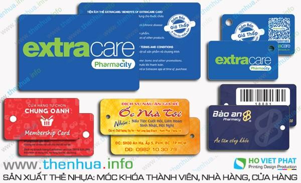 Làm thẻ nhựa kích thước 86 x 54 mm dạng thẻ ATM số ít
