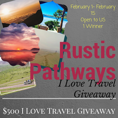 Enter the Rustic Pathways I Love Travel Giveaway. Ends 2/15
