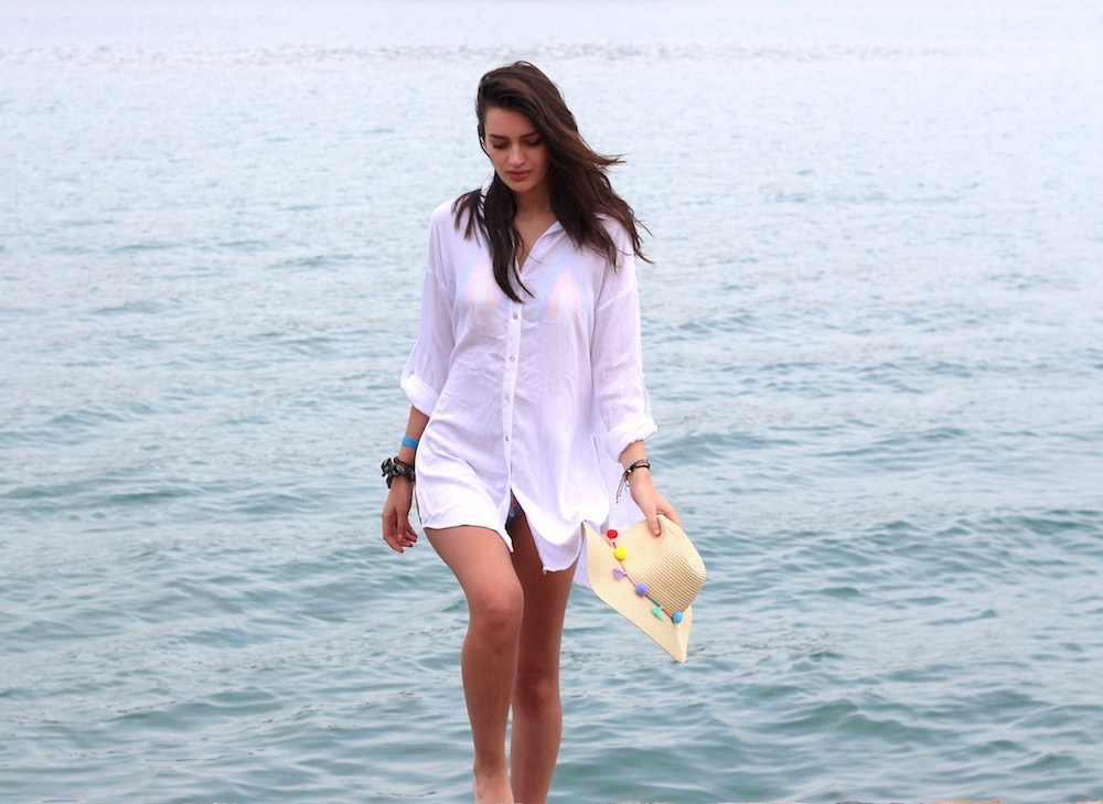 peexo travel beachwear shirt dress