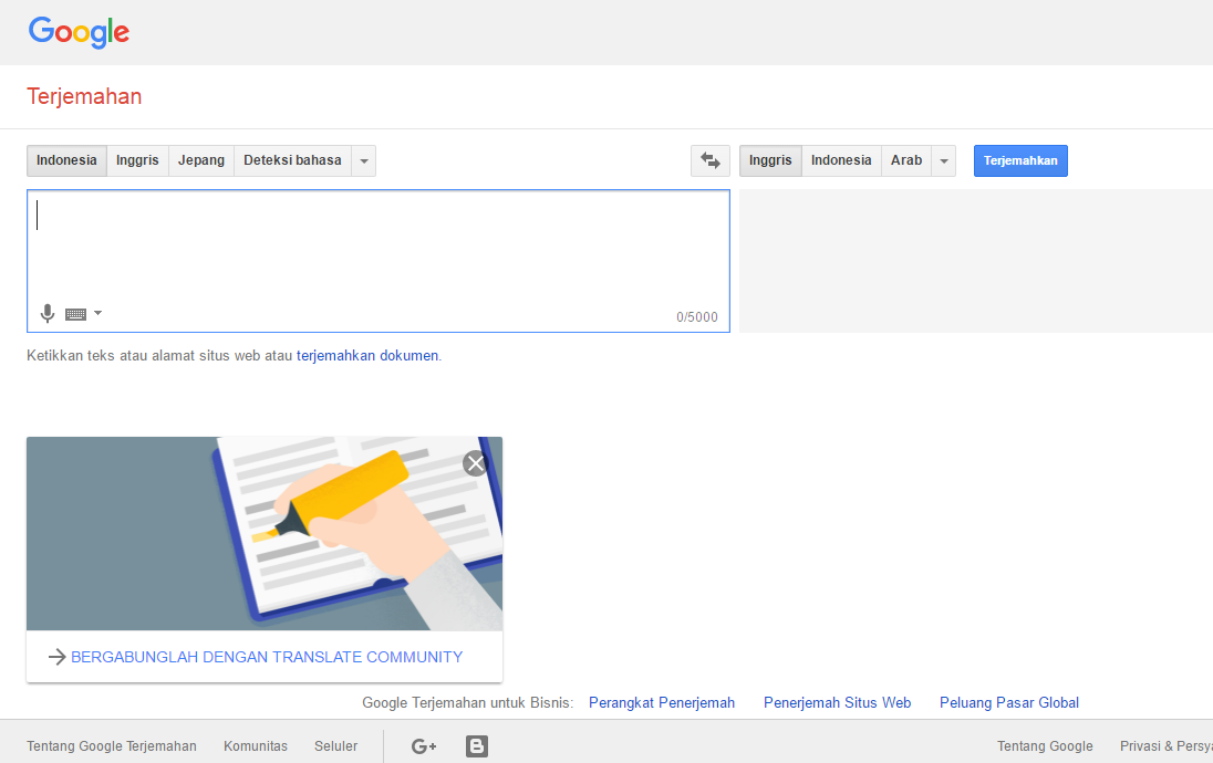 google translate indonesia inggris kalimat yang baik dan benar