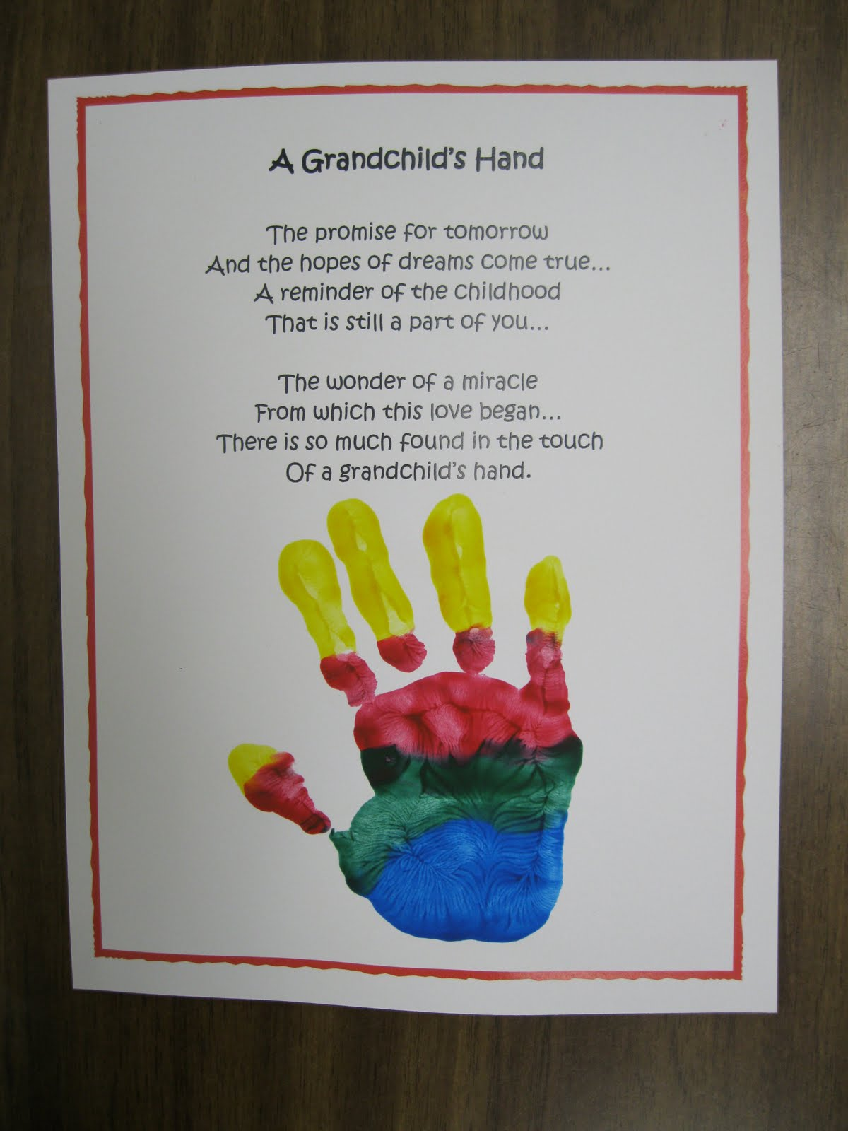 Grandparents Day Poems New Year Craft Ideas For Kindergarten