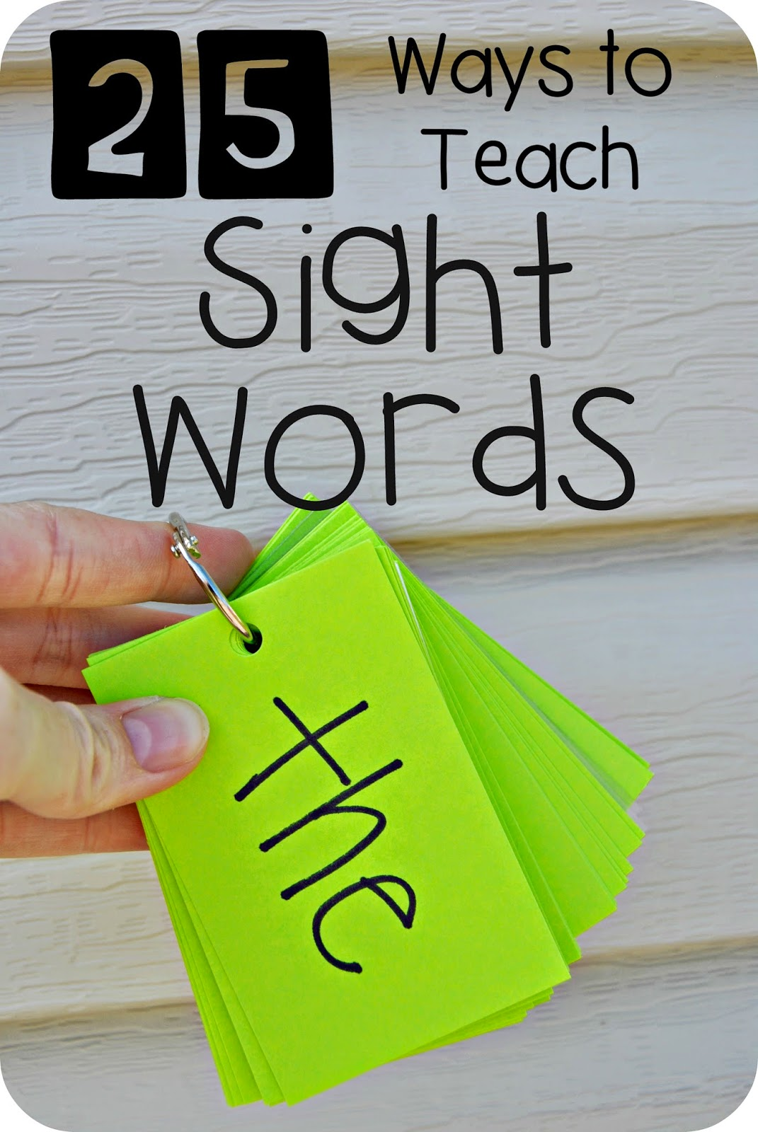 Read It, Build It, Write It Sight Words