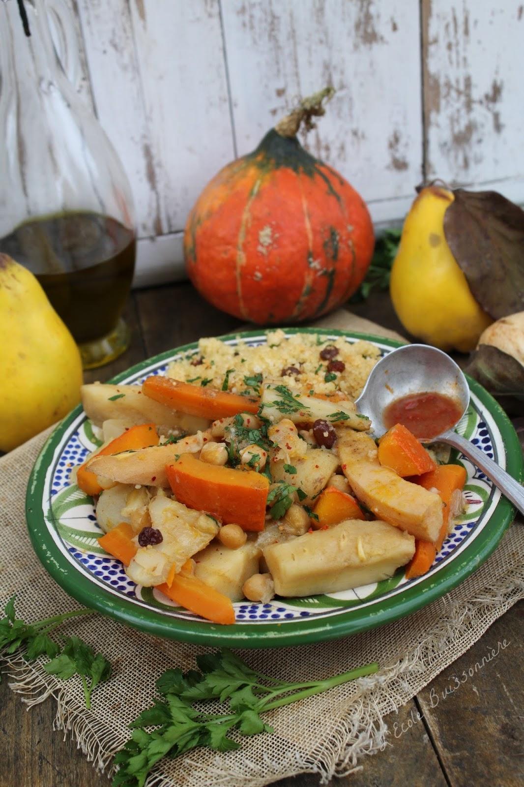 L 39 ecole buissonni re couscous v g tarien aux l gumes for Plat convivial ete
