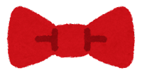 蝶ネクタイのイラスト(赤)