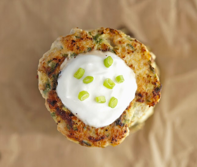 Turkey Zucchini Burgers with Lemon Yogurt Sauce