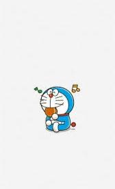 Doraemon memakan dorayaki