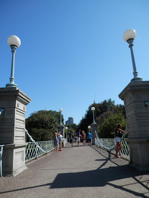 Public Garden Boston pont Love Story