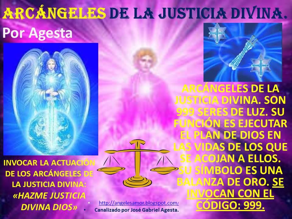 Ángeles Amor: LOS ARCÁNGELES DE LA JUSTICIA DIVINA