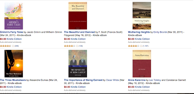 free classic e-books - same price as library but bonus benefit is they are yours forever!