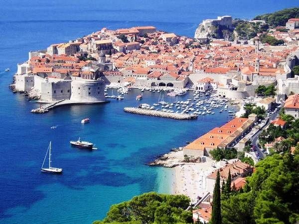 The beautiful city of Dubrovnik in Croatia