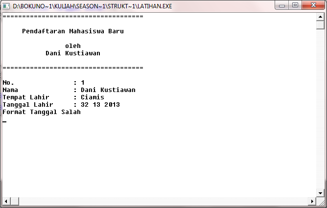 DK's Notes | danikustiawan.id: Membuat Program Penerimaan