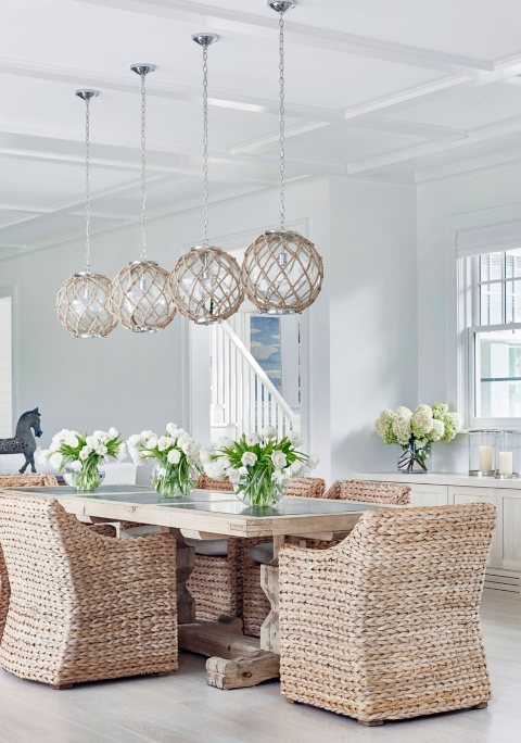 coastal lamps inspired by fishing glass