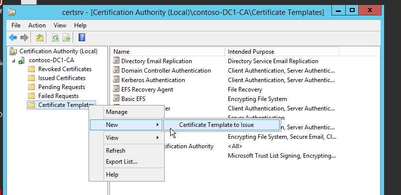 A blog to a system admins passion how to digitally sign the on the certification authority right click the certificate templates new certificate template to issue see figure 11 yadclub