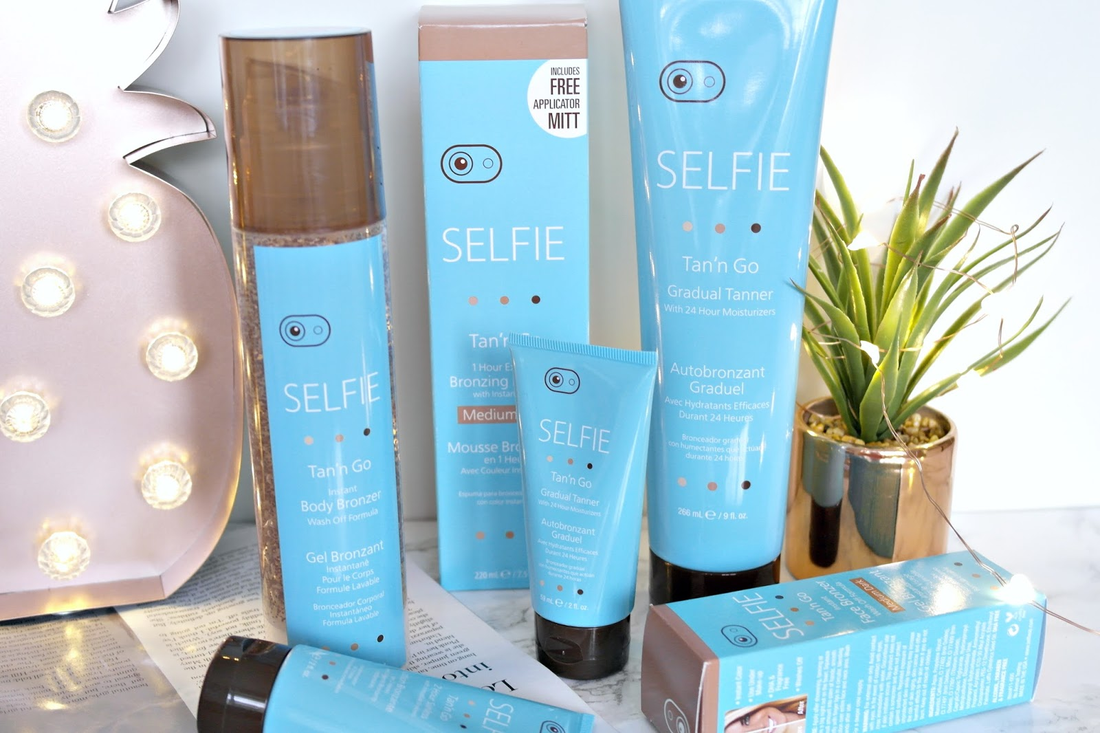 Selfie fake tan review, beauty blogger