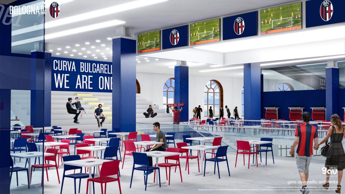 progetto stadio dall'ara bologna