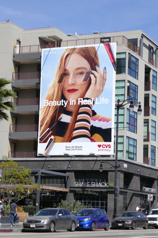CVS Pharmacy Real life beauty Real life prices billboard