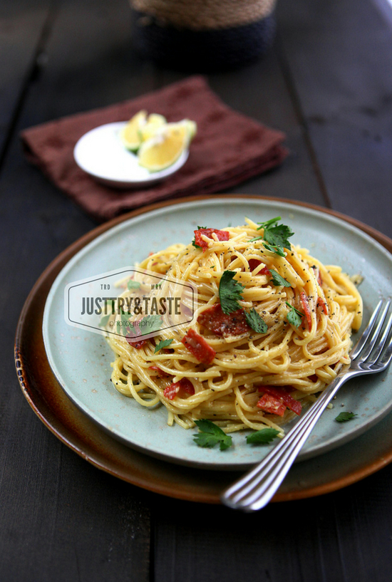 Resep Spaghetti alla Carbonara