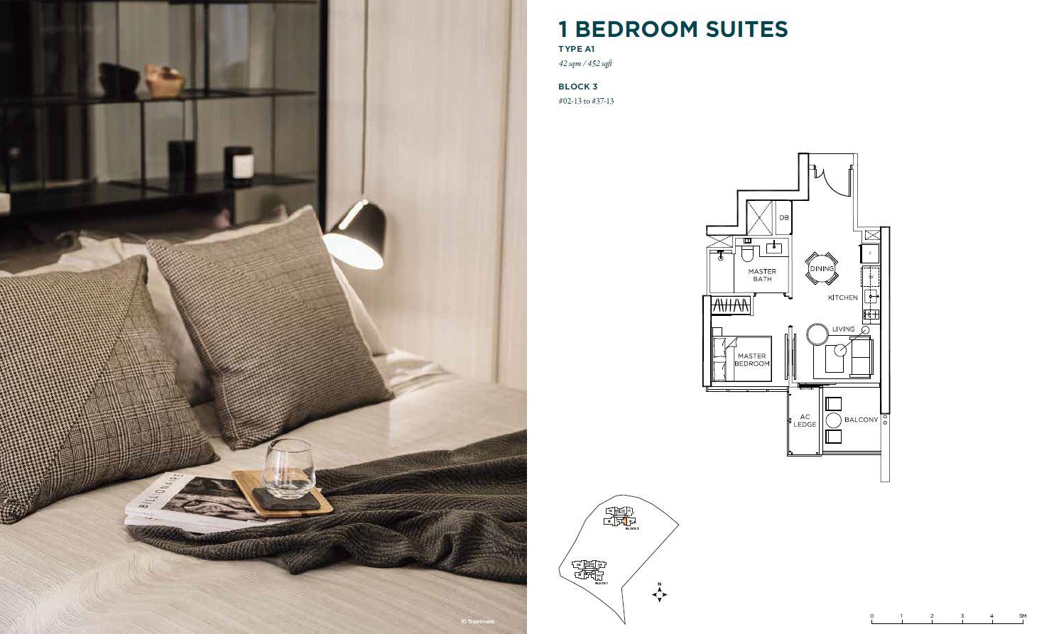 Gem Residences Floor Plans one bedroom
