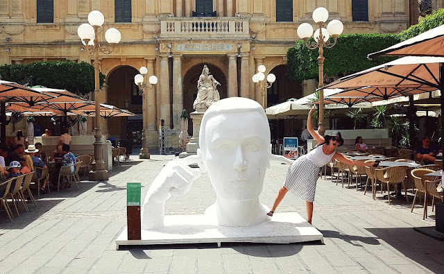 Art sculpture in Valetta, Malta