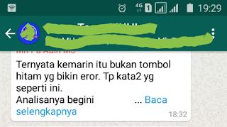 Whatsapp Error Karena Pesan Black Dot 2