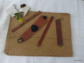 LoveLea's minimalist brown leather braclets