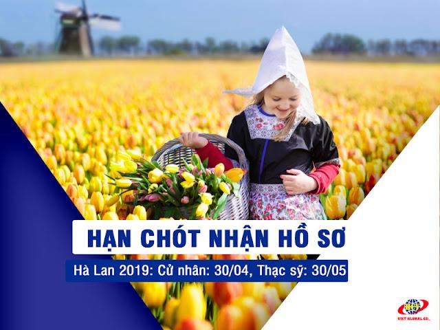 Du học Hà Lan: Hạn chót nhận hồ sơ du học Hà Lan 2019