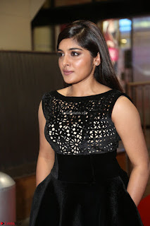 Niveda Thomas Black Sleeveless Cute Dress at 64th Jio Filmfare Awards South 2017 ~  Exclusive 124.JPG