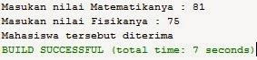 Source Code Java Netbeans Menentukan Nilai Mahasiswa
