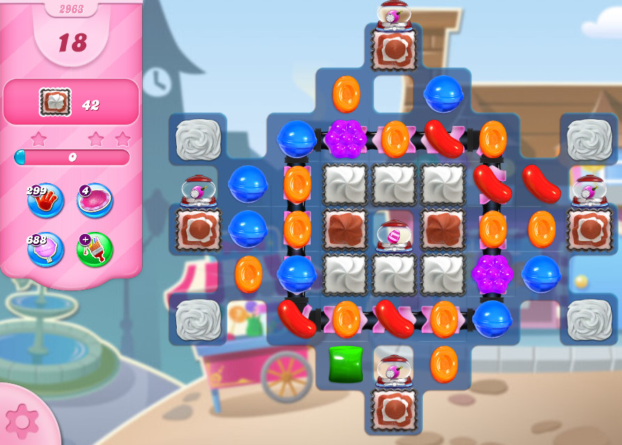 Candy Crush Saga level 2963