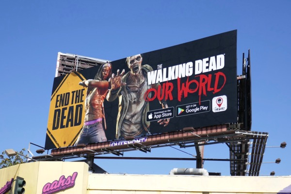 Movie, music and gaming billboards entertaining L A 's August 2018