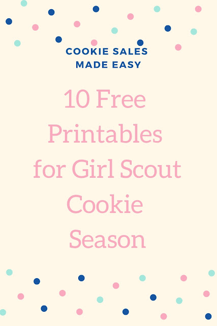 10 Free Printables for Girl Scout Cookie Season-thank yous, door hangers and more