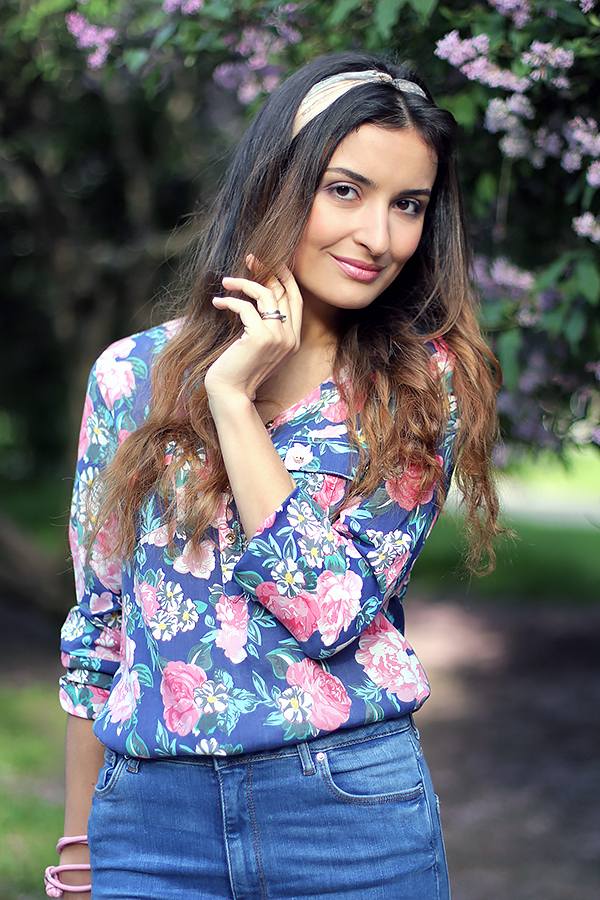 florals with jeans