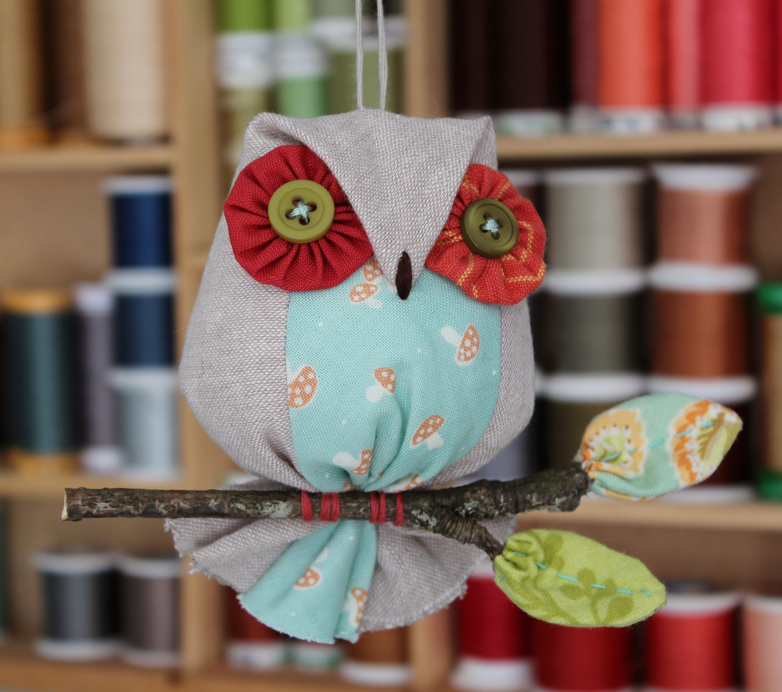 Patchworkpottery Owl Ornaments