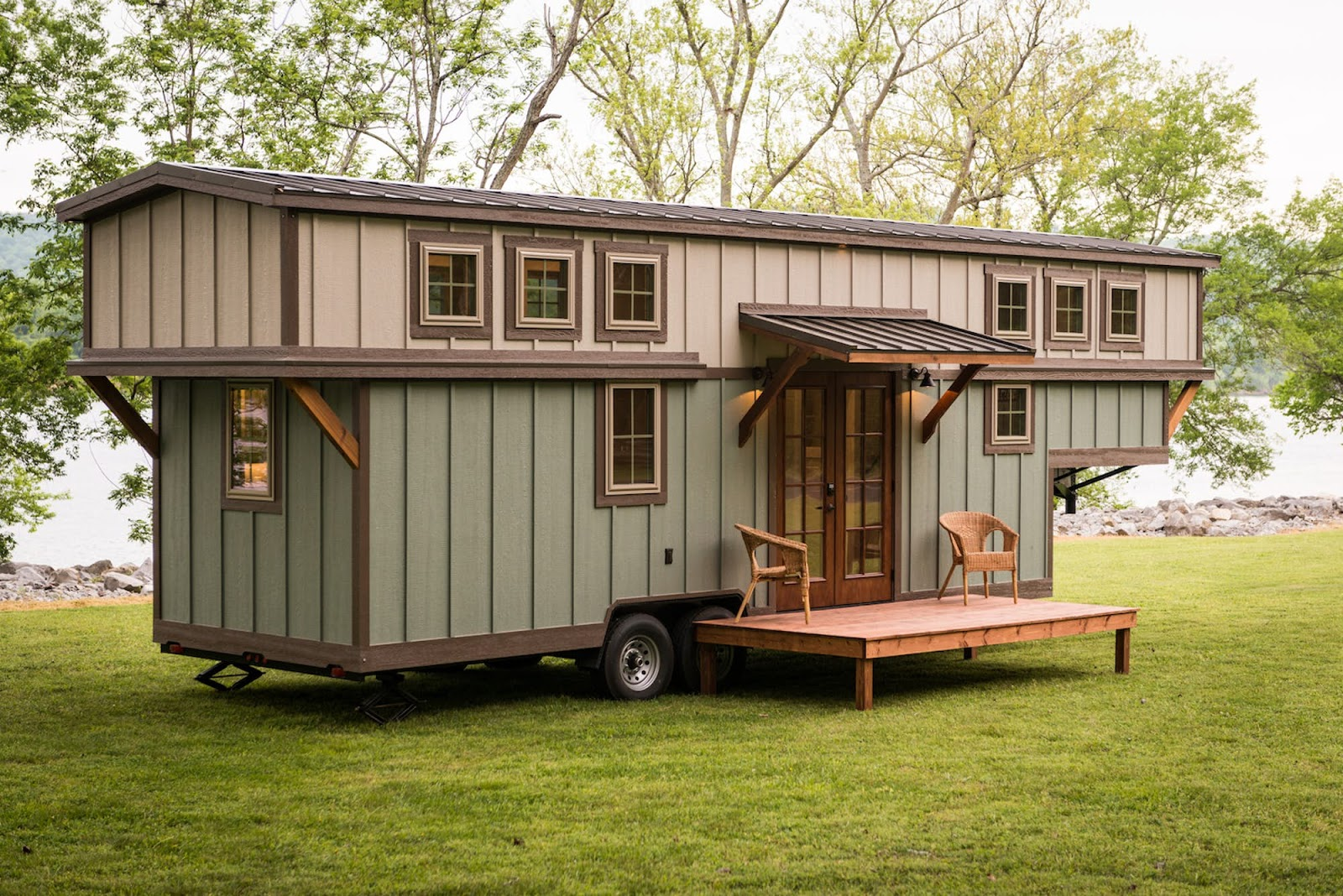 Tiny house town the retreat from timbercraft tiny homes for 4 bedroom tiny house on wheels