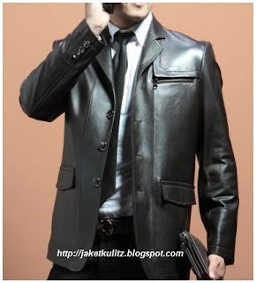 Gambar Jaket Kulit Formal Resmi Model Kantor