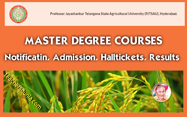 PJTSAU-Master-Degree-PG-MSc-Admission-2017-Notification