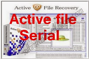 Active File Recovery Crack Serial Free Download