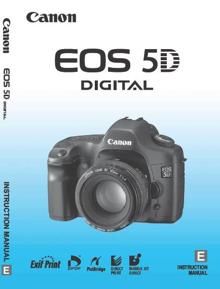 Canon EOS 5D PDF User Guide / Manual Downloads
